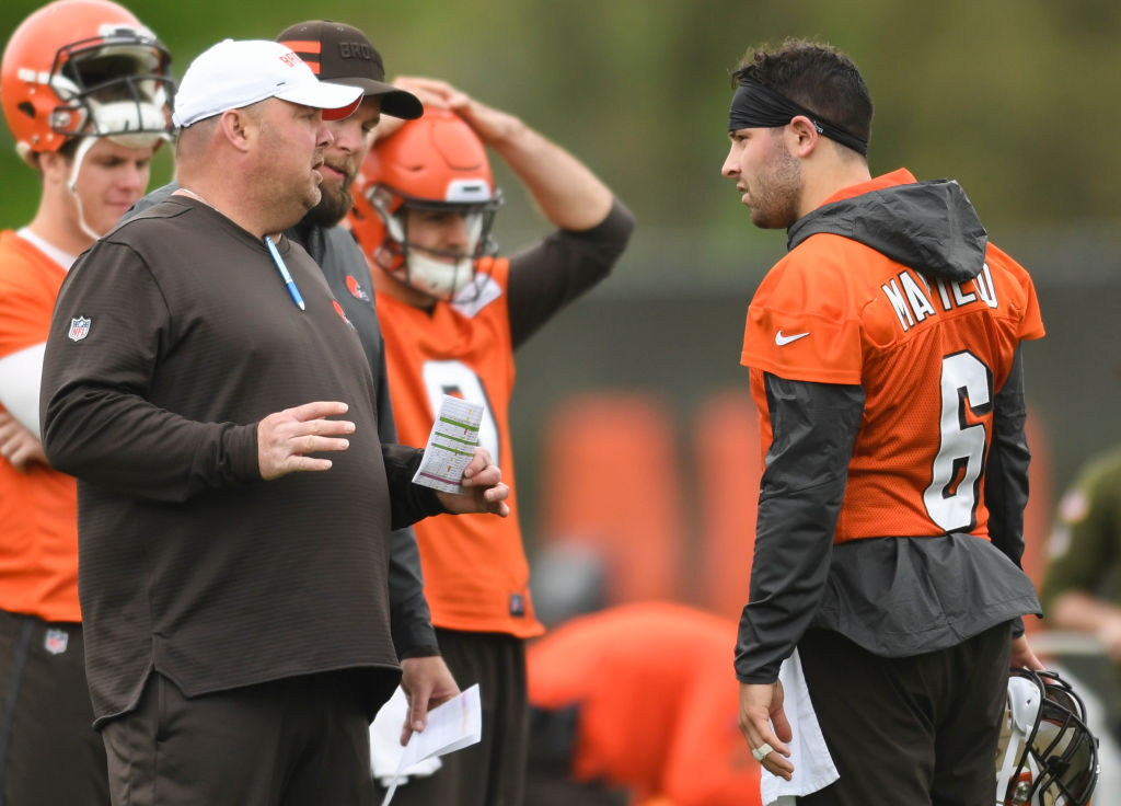 Cleveland Browns coach Freddie Kitchens and QB Baker Mayfield shrugged off Duke Johnson's trade request.