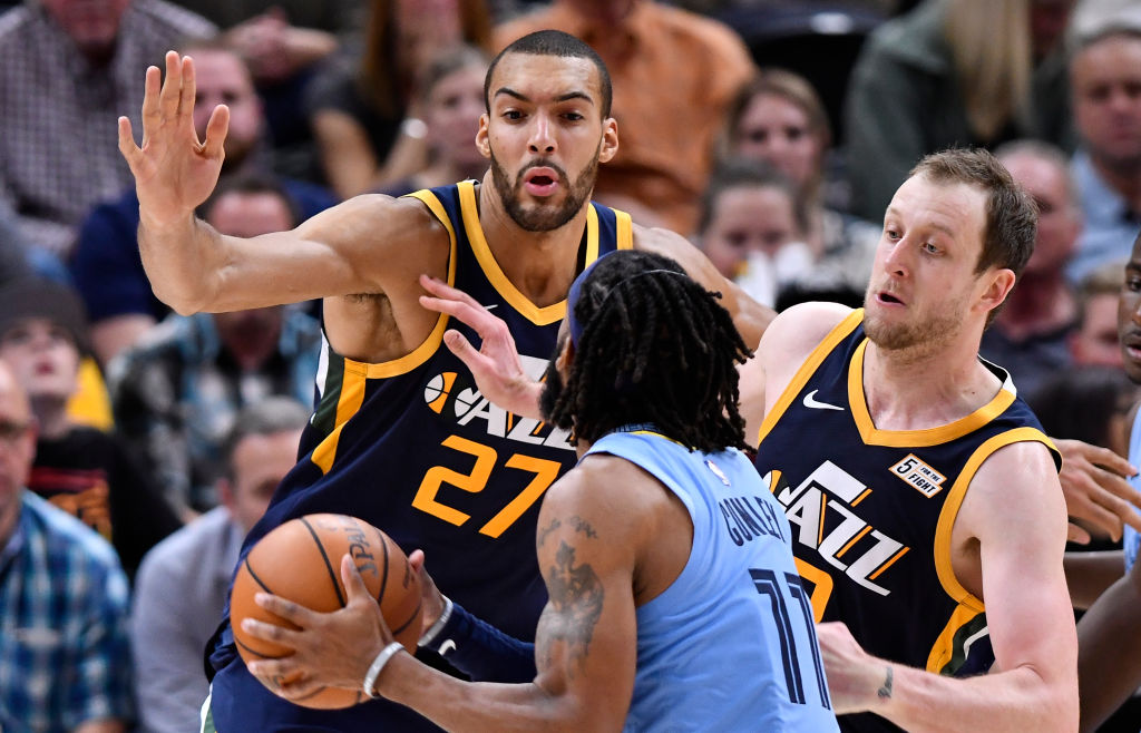 Mike Conley won't have to worry about facing defensive ace Rudy Gobert after his trade to the Utah Jazz.