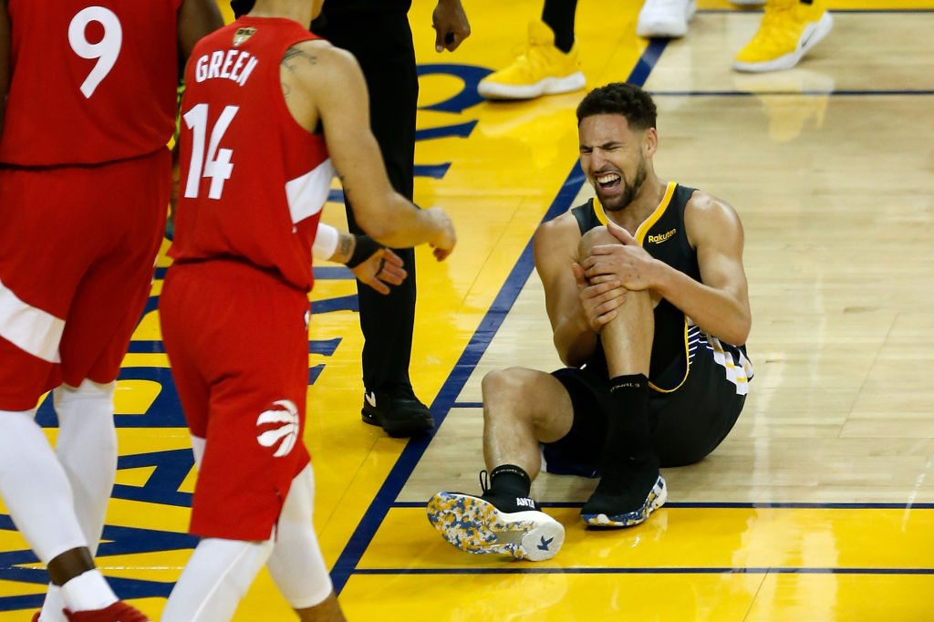 Klay Thompson's knee injury could impact his desirability during NBA free agency.