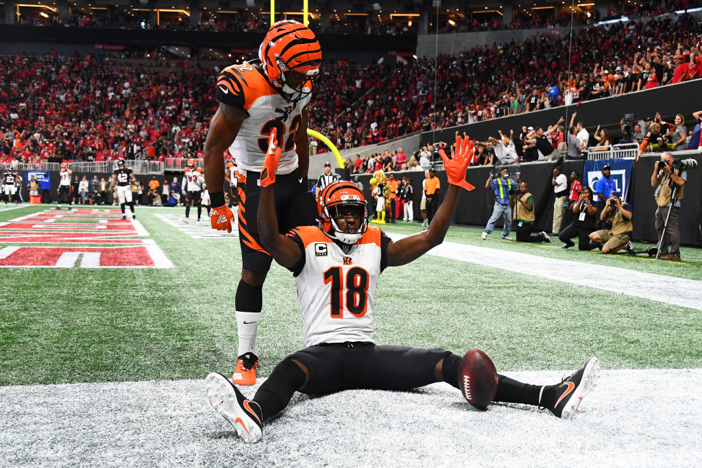 A.J. Green (No. 18) is one of the best wide receivers in the NFL in 2019.