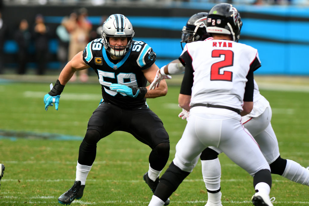 The Panthers Luke Kuechly is one of the NFL players most essential to his team's defense.
