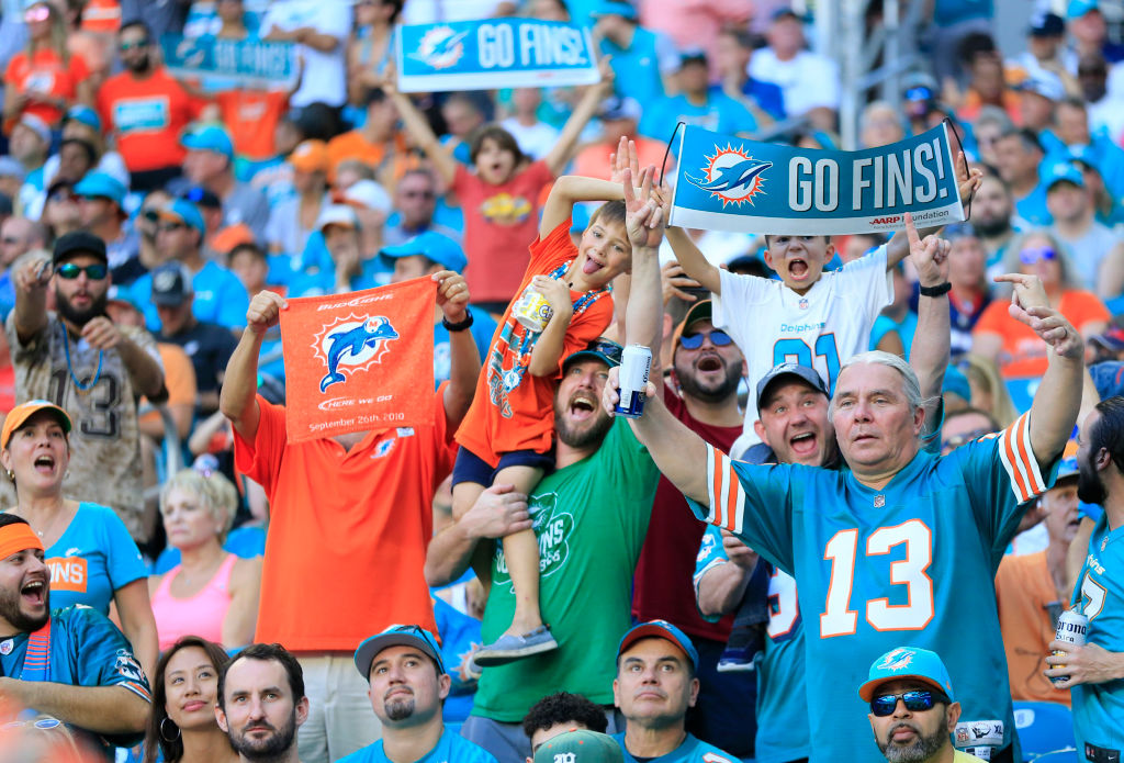 The Dolphins are one of the NFL teams that pack the stadium no matter what.