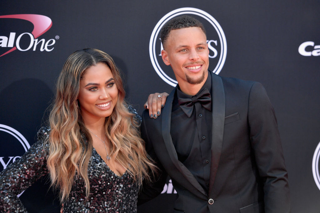 Ayesha Curry (left) sent one of the NBA's most notorious tweets in 2016.