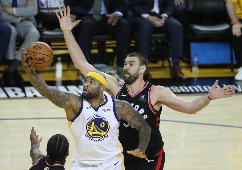 DeMarcus Cousins overcame a playoff injury to play in the NBA Finals.