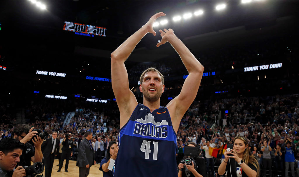 Dirk Nowitzki overcame illness to play in the 2011 NBA Finals.