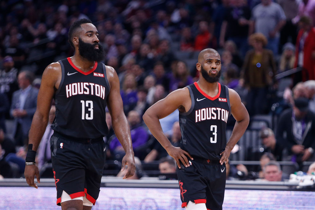 James Harden (left), Chris Paul, and the Houston Rockets are on the verge of exploding.