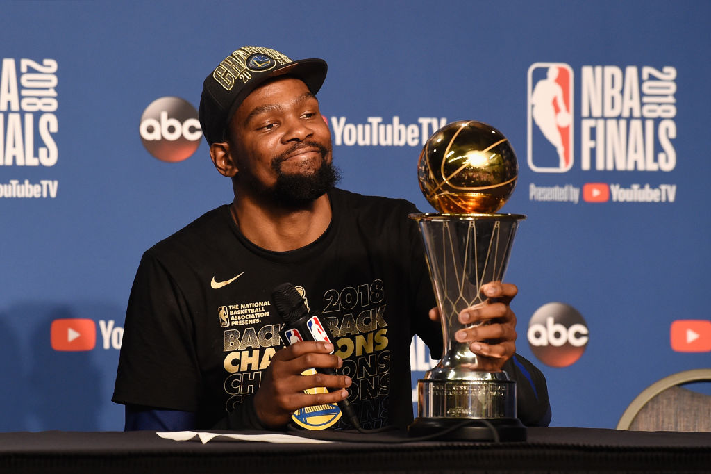 Kevin Durant is one of the best NBA Finals MVPs of all time.
