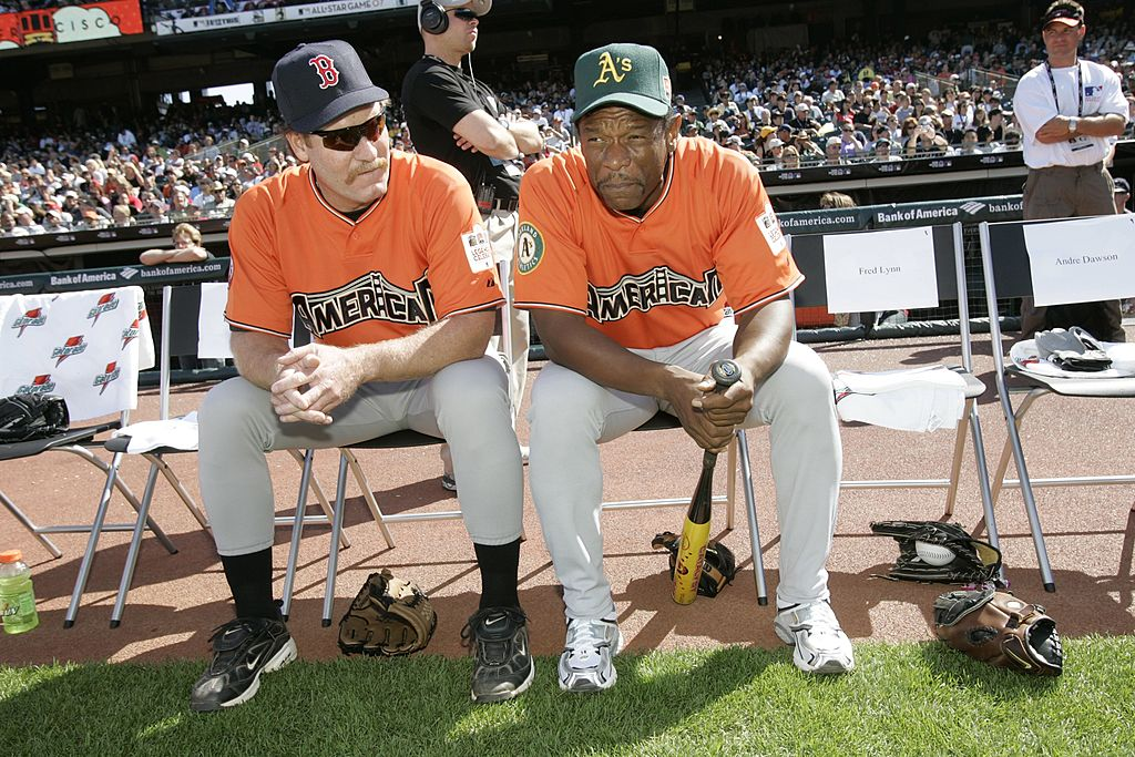 MLB greats Wade Boggs and Rickey Henderson at the 2007 All-Star Legends Softball Game