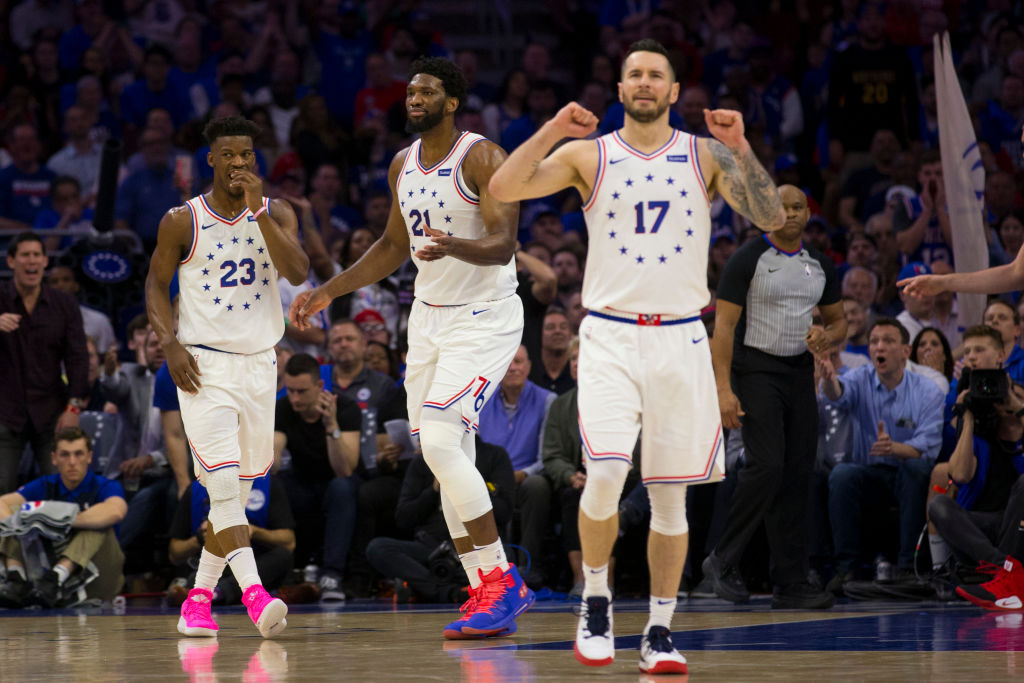 The Philadelphia 76ers might miss J.J. Redick (right) during the 2019-20 season more than they'll miss Jimmy Butler (left).