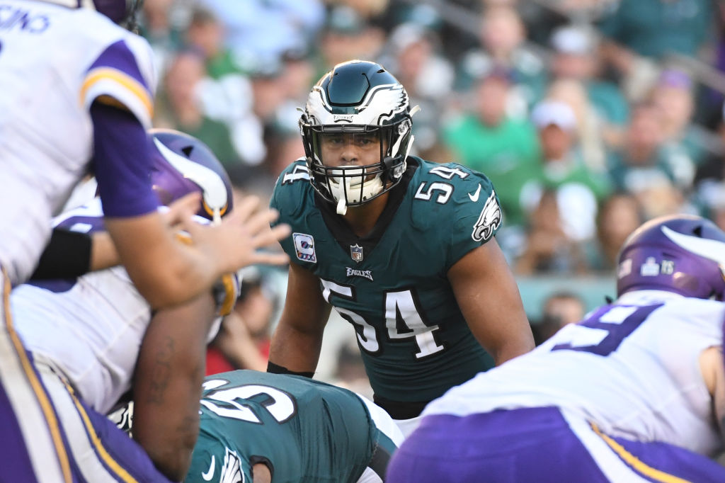 The Philadelphia Eagles' linebacking corps, including Kamu Grugier-Hill, doesn't instill a lot of fear in opponents.