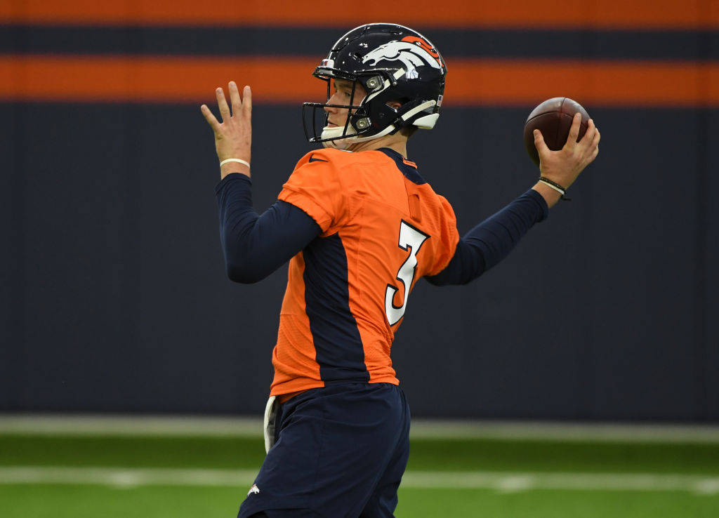 Drew Lock held out as long as possible before signing with the Denver Broncos.