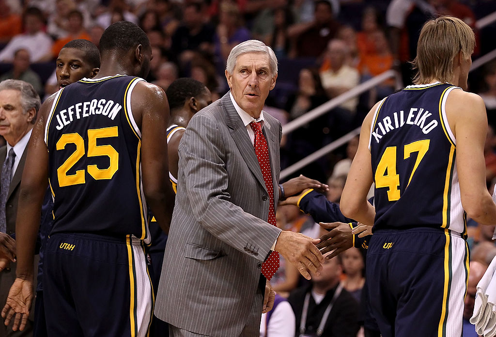 Head coach Jerry Sloan in 2010