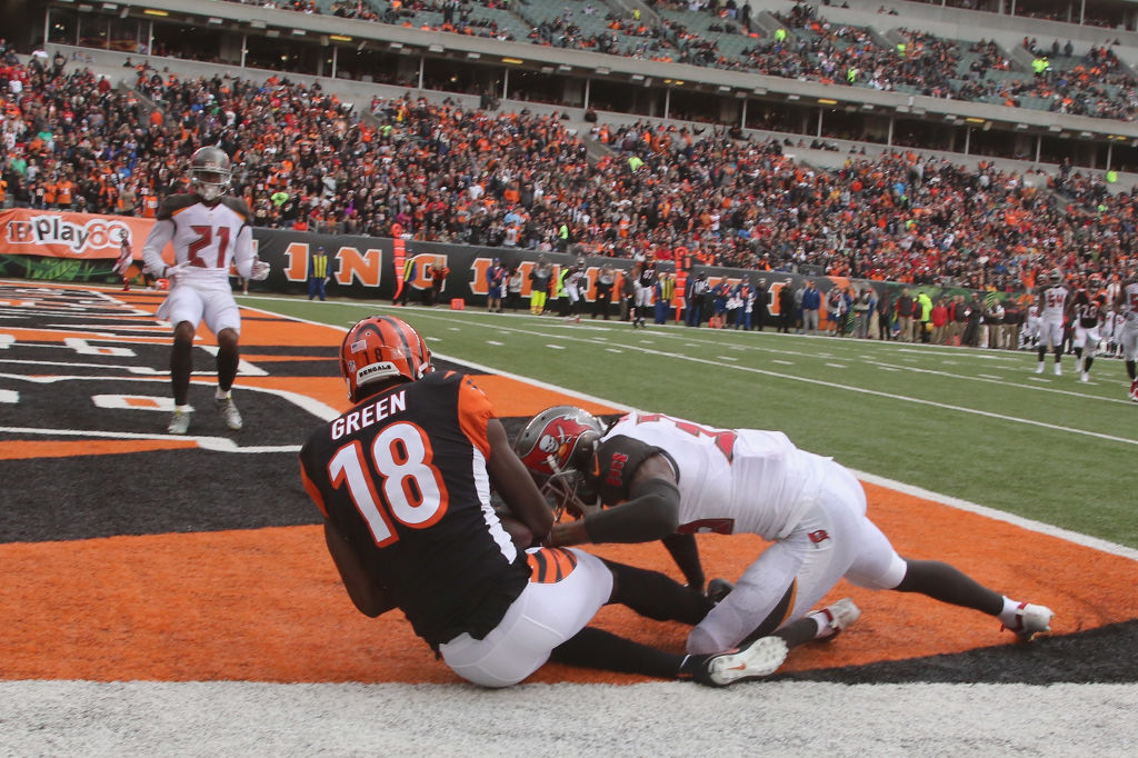A.J. Green hauls in a touchdown pass