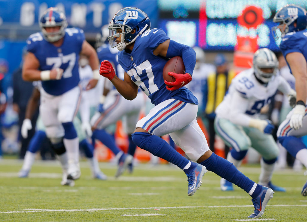 Sterling Shepard picking up yards after the catch