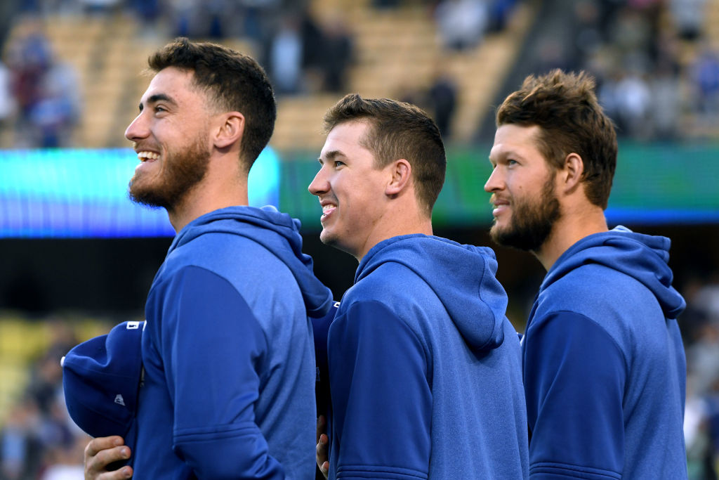 Cody Bellinger, Walker Buehler and Clayton Kershaw
