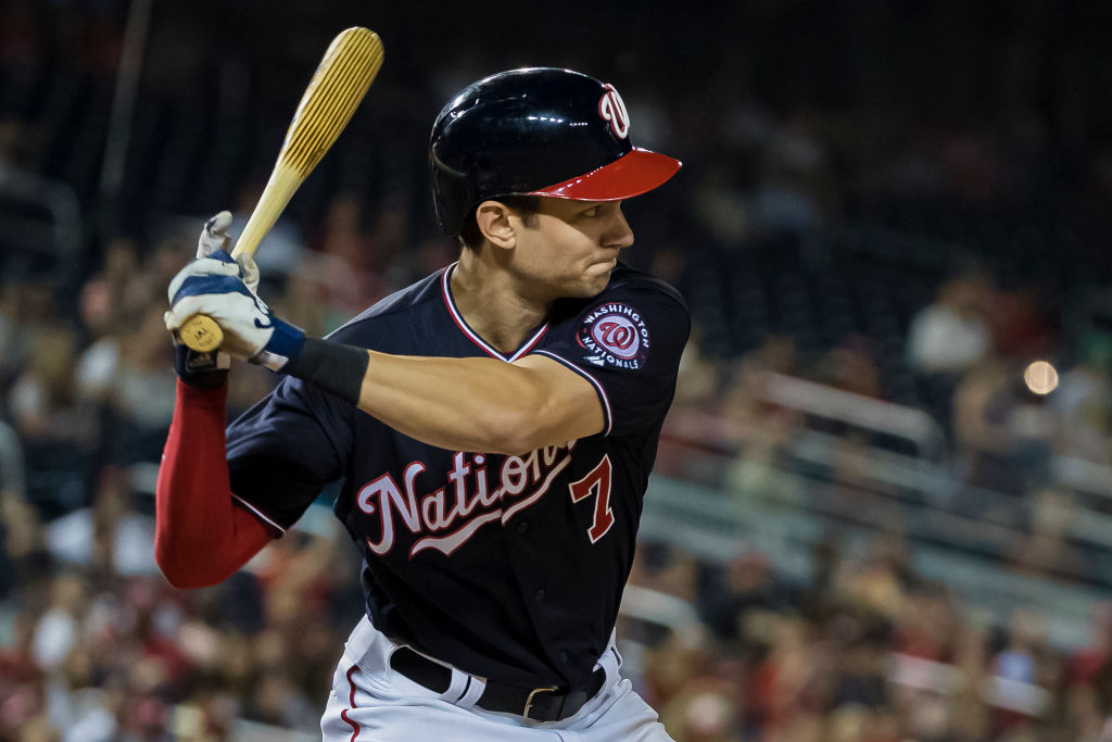 Trea Turner during the sixth inning at Nationals Park