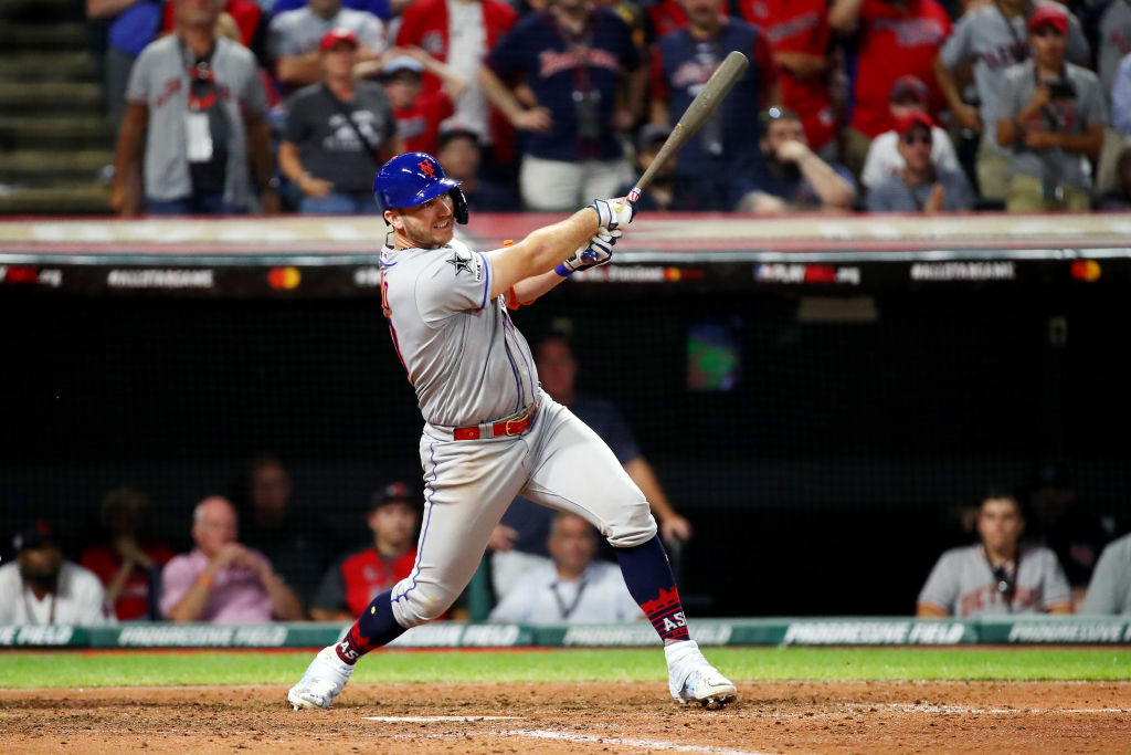 Pete Alonso hits a 2 RBI single in the All-Star Game