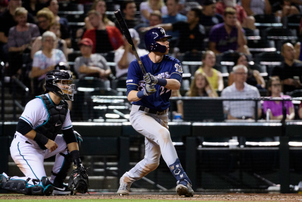 Christian Yelich leads the league with 35 home runs