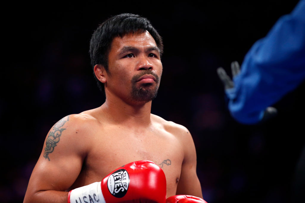 Manny Pacquiao before his fight against Keith Thurman