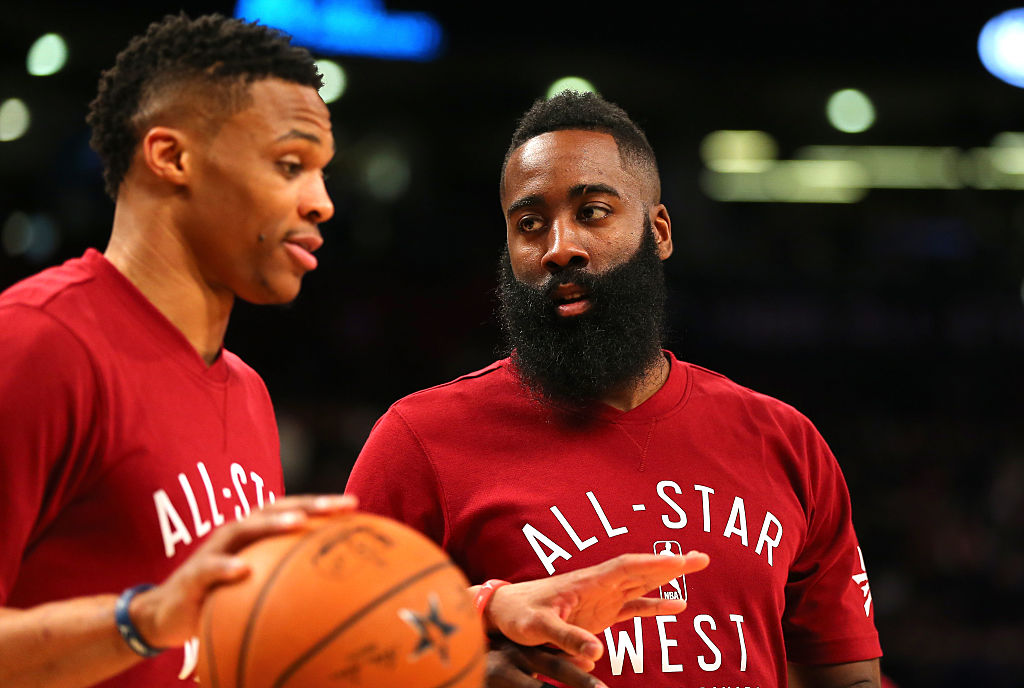 Russell Westbrook and James Harden on the All-Star Team