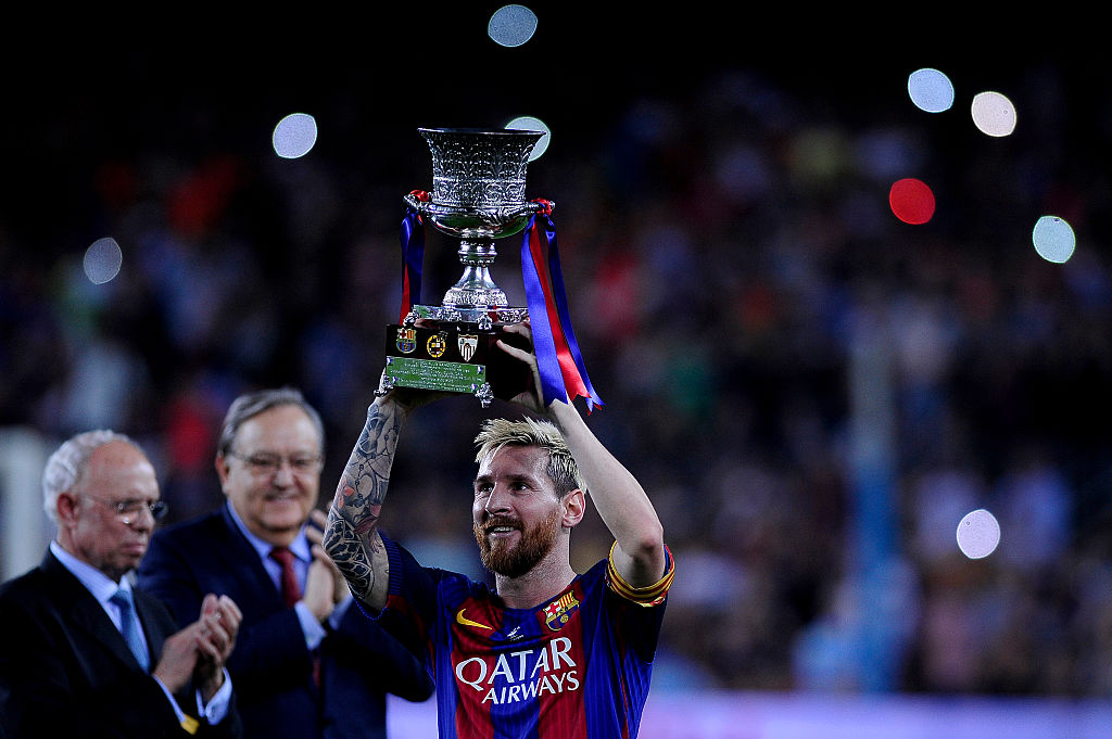 Lionel Messi enjoys success at Barcelona
