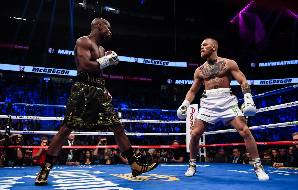Floyd Mayweather Jr sizes up Conor McGregor