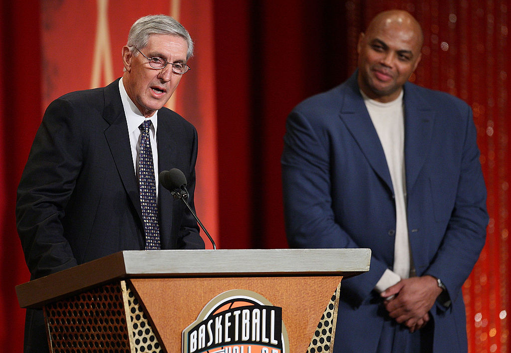 Jerry Sloan entering the Hall of Fame