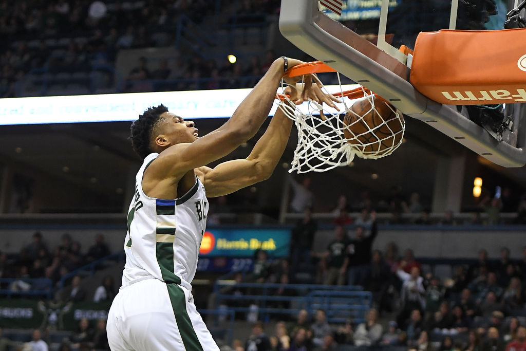 Giannis Antetokounmpo had dozens of highlight plays during his NBA MVP season of 2018-19.