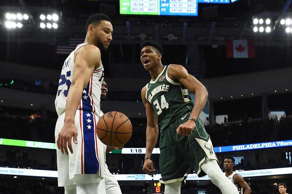 Giannis Antetokounmpo had dozens of highlight plays during his NBA MVP season of 2018-19, including a thunderous dunk on Ben Simmons.