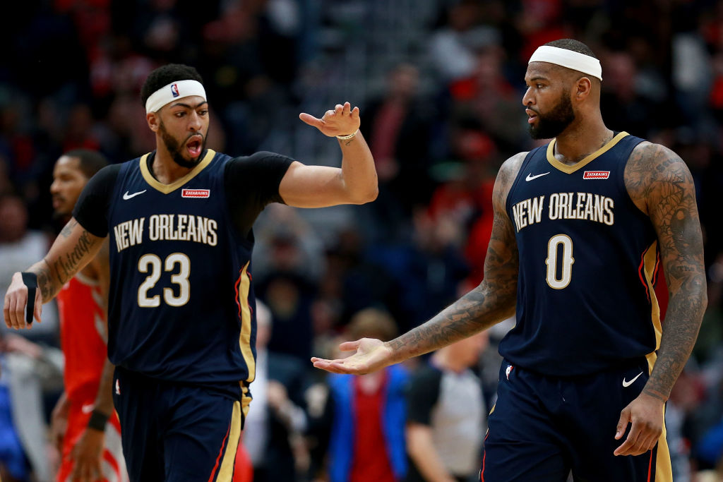Anthony Davis (left) and DeMarcus Cousins are teammates again with the Los Angeles Lakers.