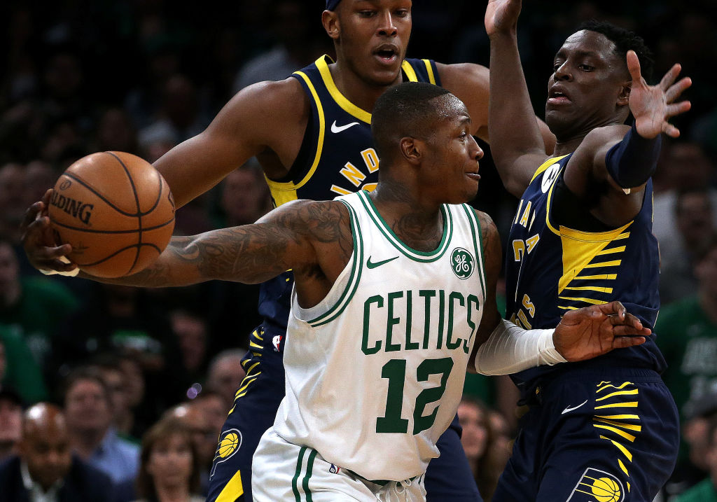 The Hornets added Terry Rozier (middle) to replace Kemba Walker, but it might be one of the worst deals in NBA free agency in 2019.