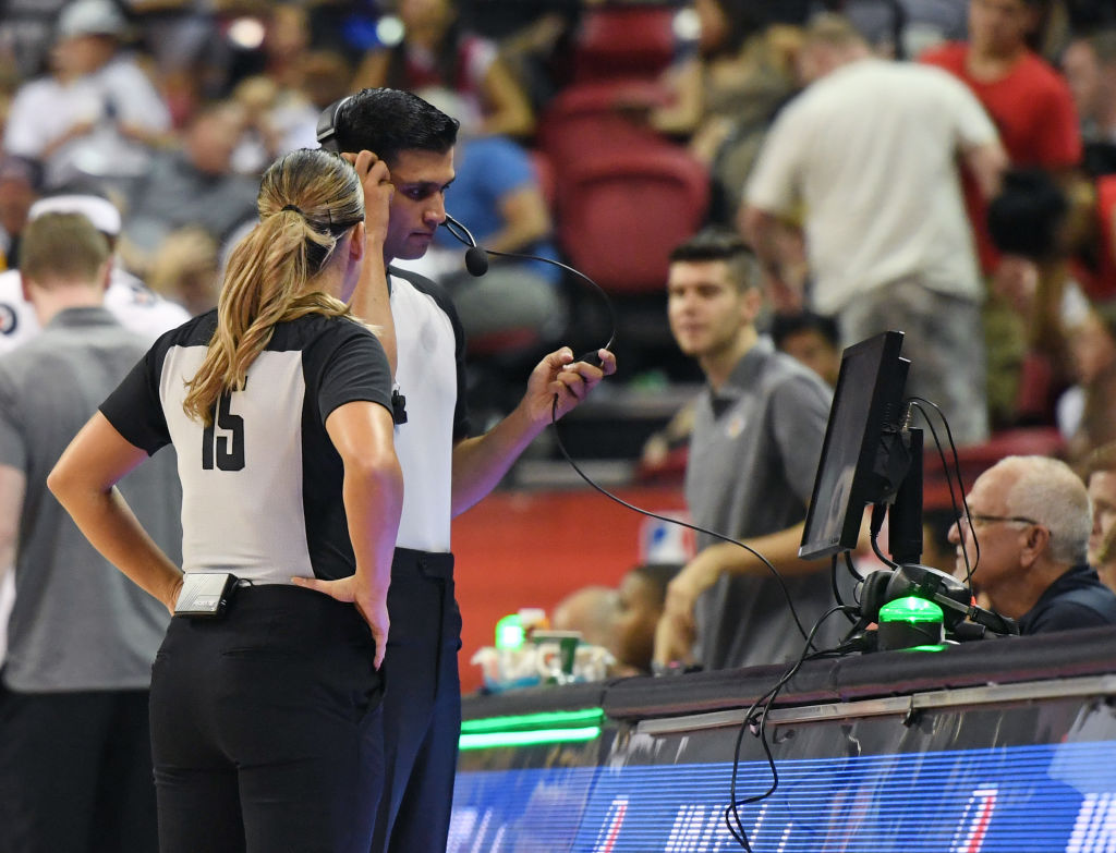 We'll see refs going to the monitors thanks to coach's challenges and the NBA instant replay system.