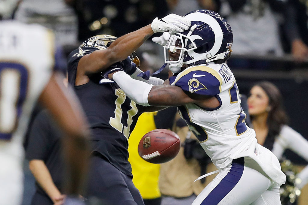 Pass interference flags are some of the most confusing NFL penalties we can think of because it's such a judgement call.