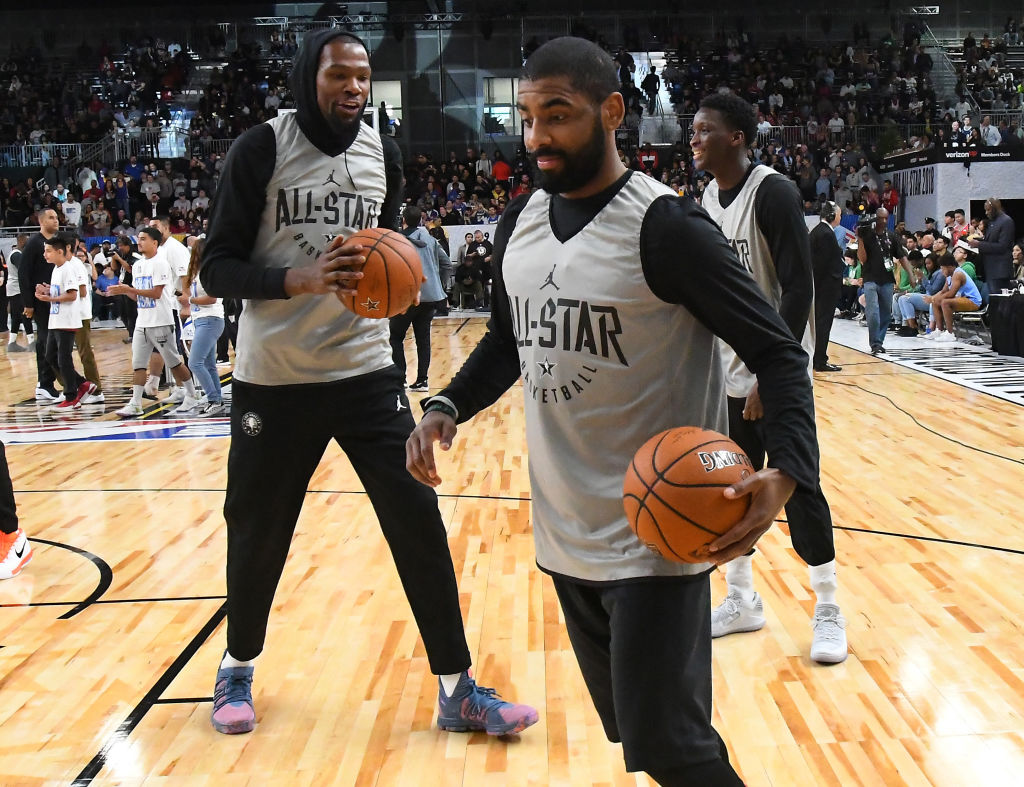 Time will tell if the Brooklyn Nets will be any good with Kevin Durant (left) and Kyrie Irving leading the way.