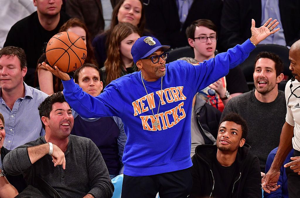 New York Knick's fan Spike Lee