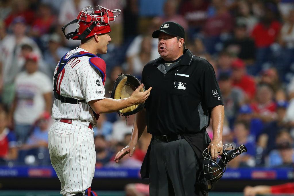 Home plate umpire Doug Eddings - Philadelphia Phillies