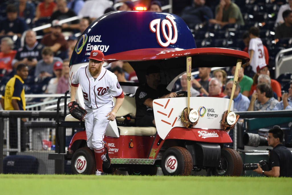 It's a race between Sean Doolittle and the Nationals and the Red Sox for the worst bullpen in baseball.