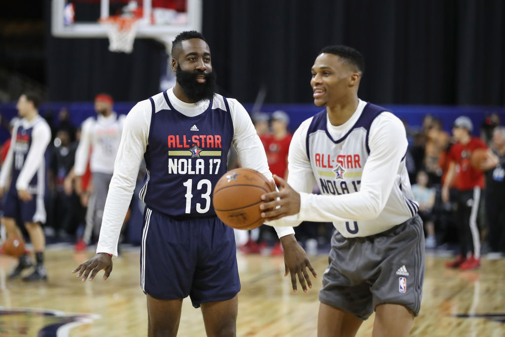 James Harden and Russell Westbrook will team up again on the Rockets.