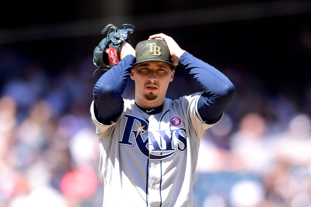 Blake Snell is definitely one of baseball's struggling starting pitchers in 2019.