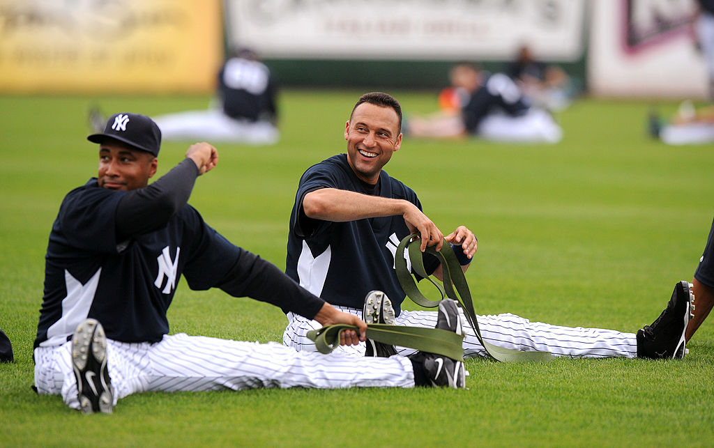 The TV show Seinfeld had several athletes make cameos, including Yankees players Bernie Williams (left) and Derek Jeter.