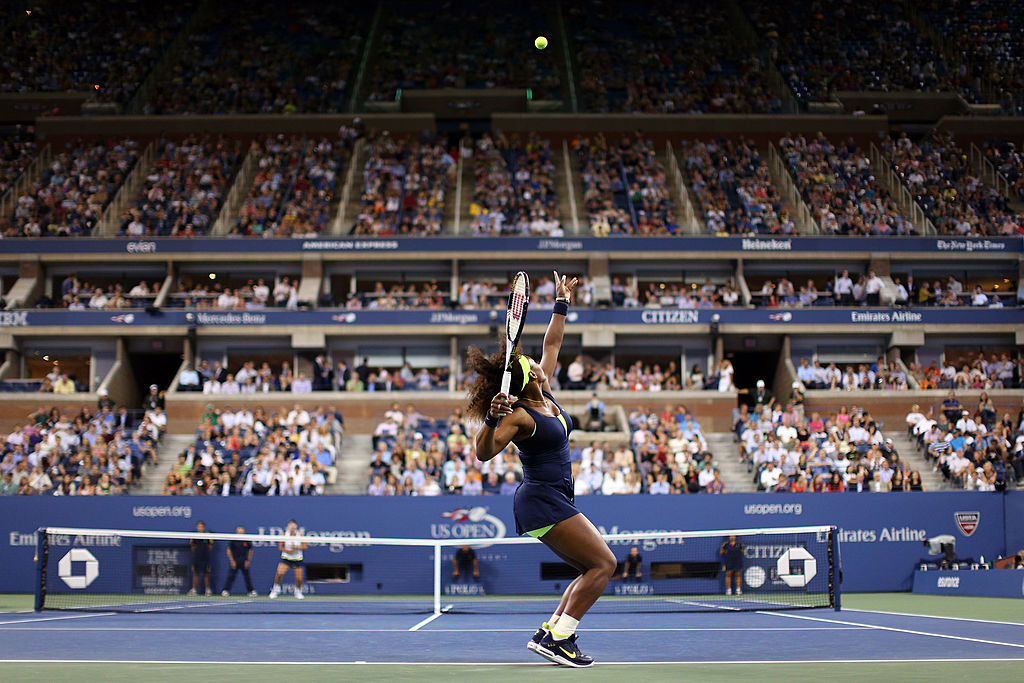 Serena Williams' serve