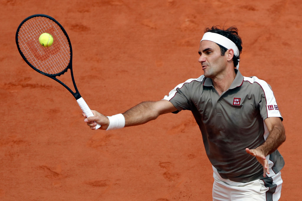Roger Federer at the 2019 French Open