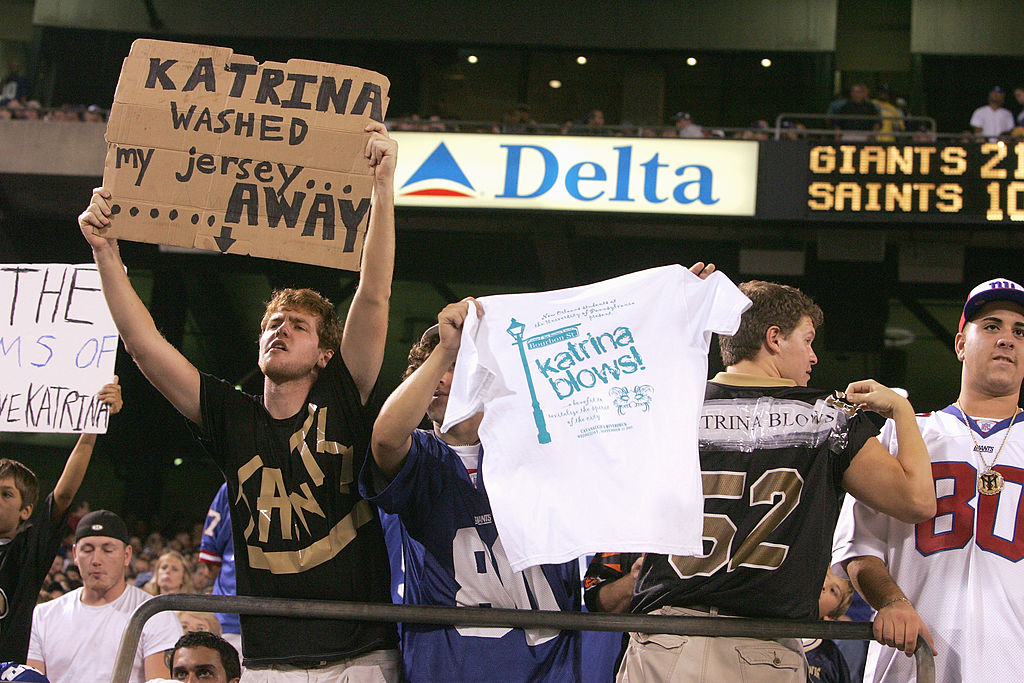 Saints game following Katrina
