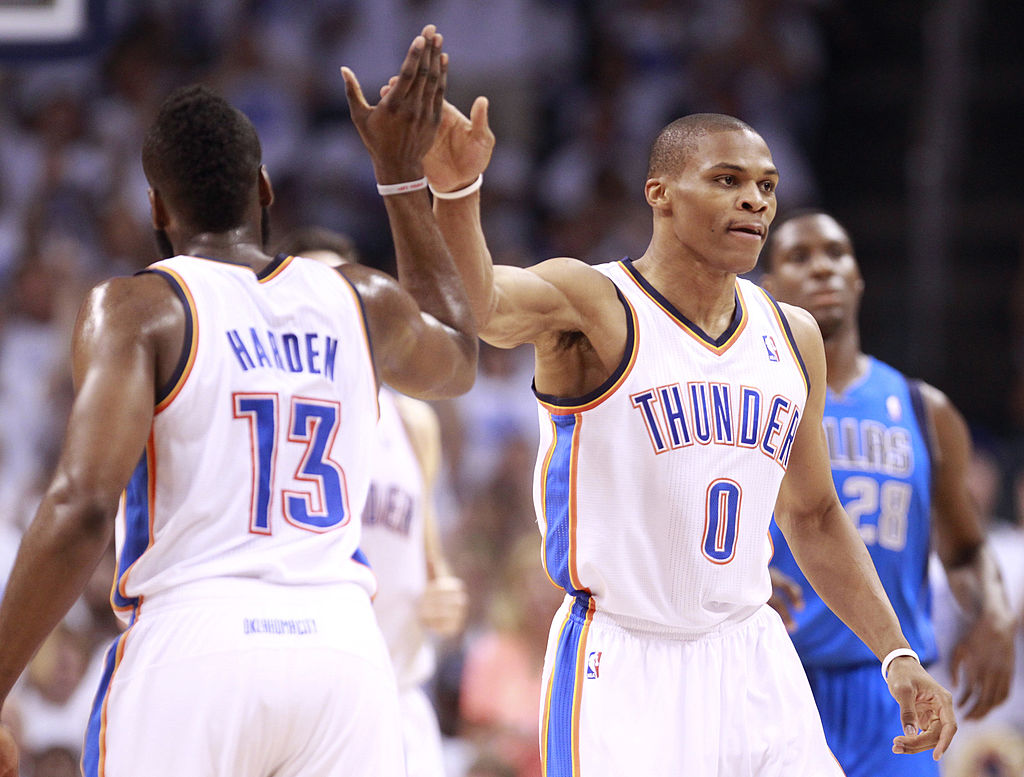 James Harden and Russell Westbrook will have to work out the power dynamic when they team up on the Rockets.
