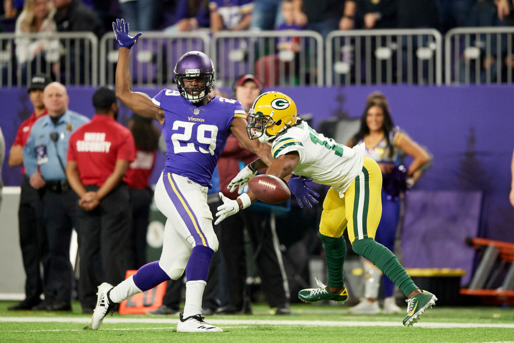 The Vikings Xavier Rhodes is different from most NFL cornerbacks -- he actually respects his opponents, such as Green Bay's Davante Adams.