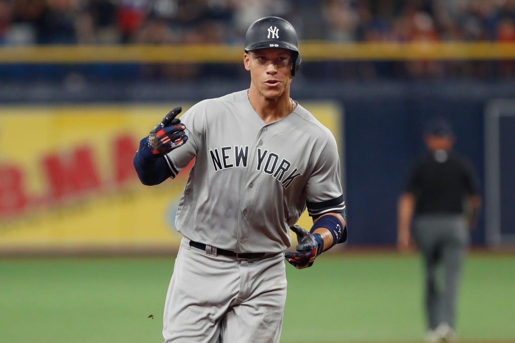 Aaron Judge helped the Yankees set an MLB record for consecutive games with a home run.