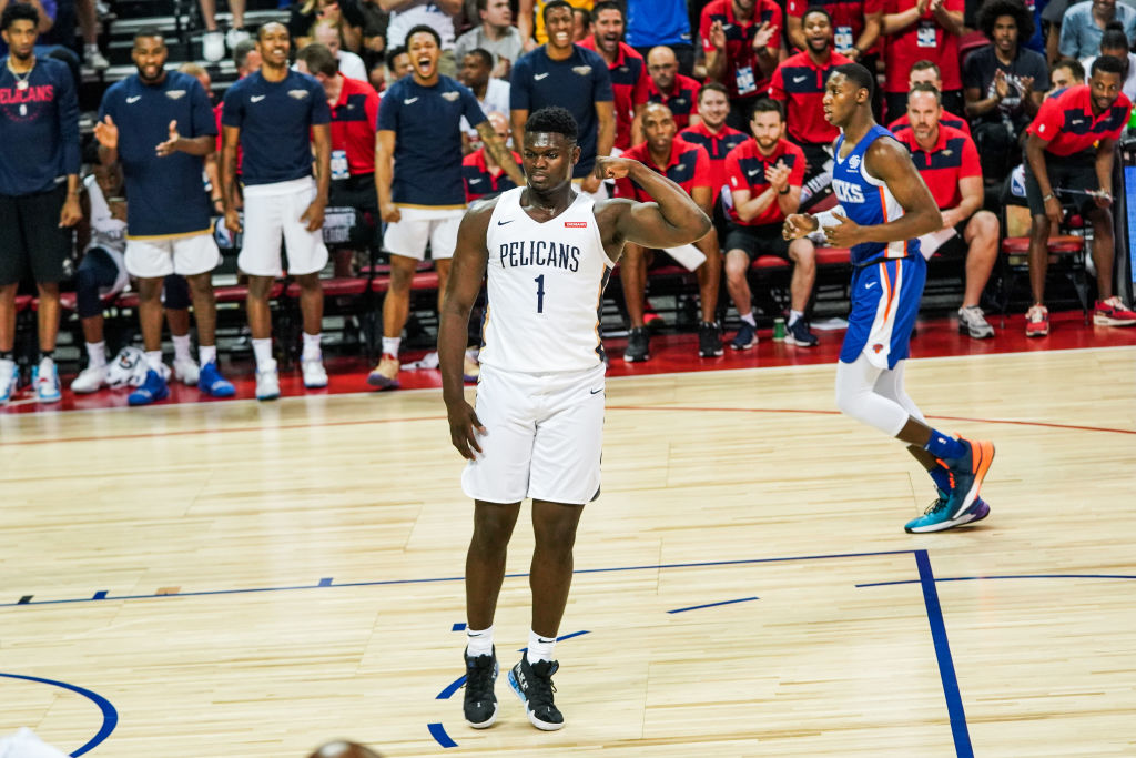 Zion Williamson defies the laws of gravity for someone who weighs as much as him.