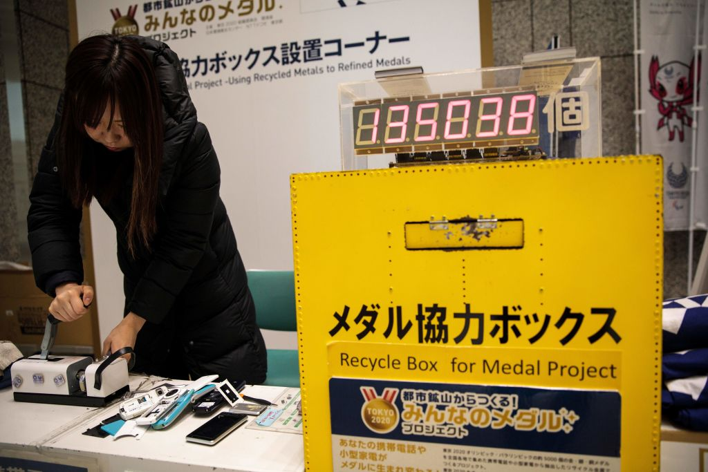 The medals for the 2020 Olympics will be made from old phones and recycled electronics.