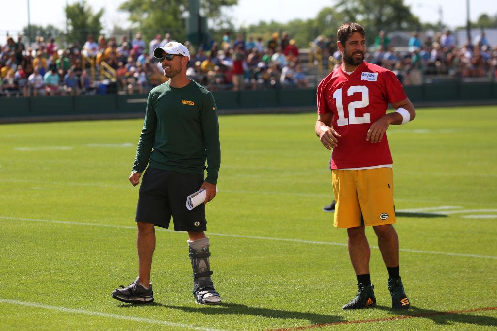 Packers quarterback Aaron Rodgers already likes new head coach Matt LaFleur more than former coach Mike McCarthy.
