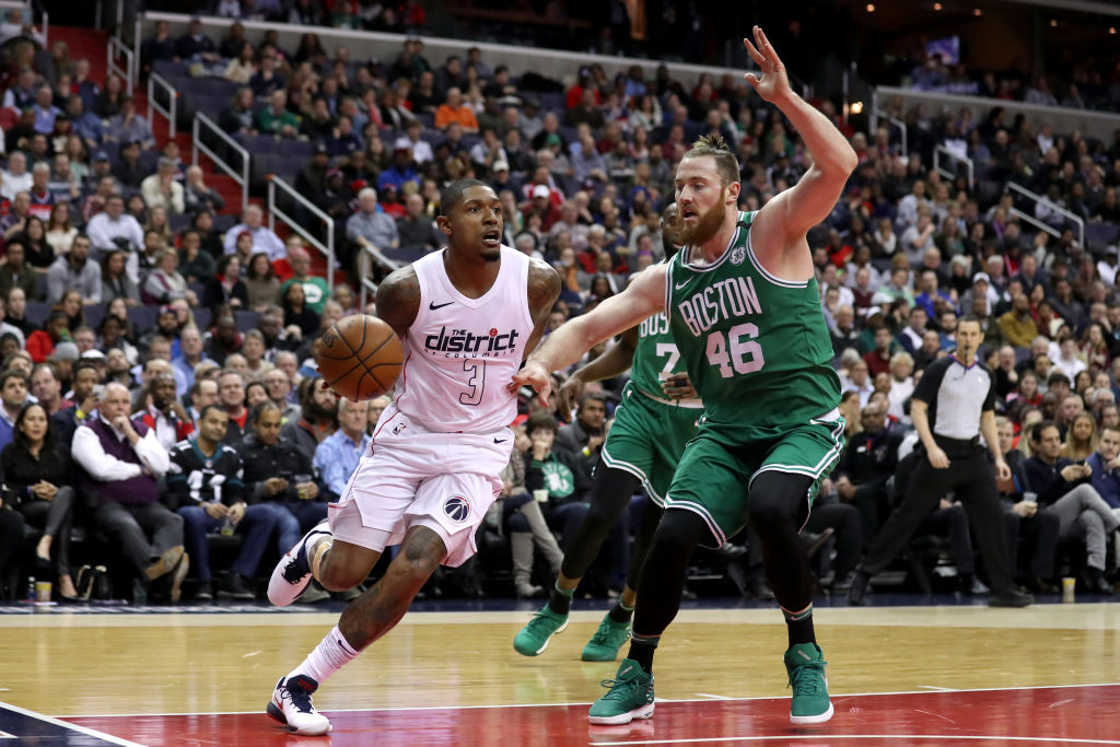 Bradley Beal (left) to the Celtics would get him away from the Wizards' toxic situation and make Boston a better contender in the NBA.